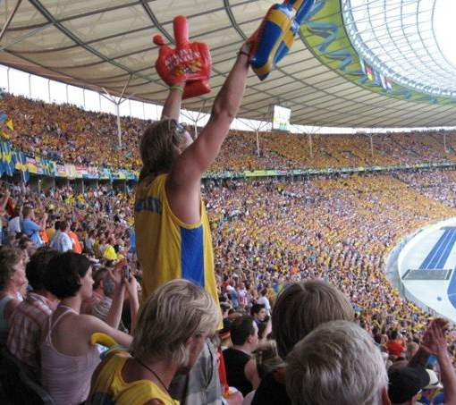Swedish football fan