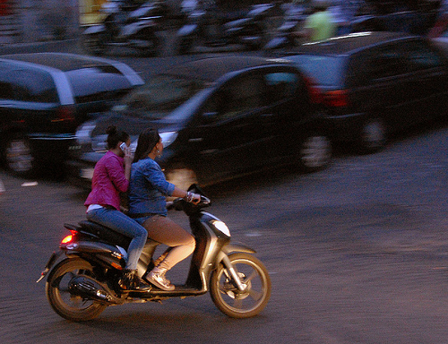 Naples moped – image credit Flickr user podoboq