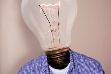 lightbulb head