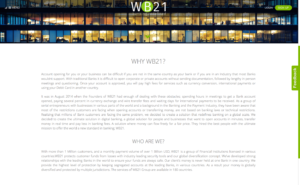 "WB21 website ""about us"""