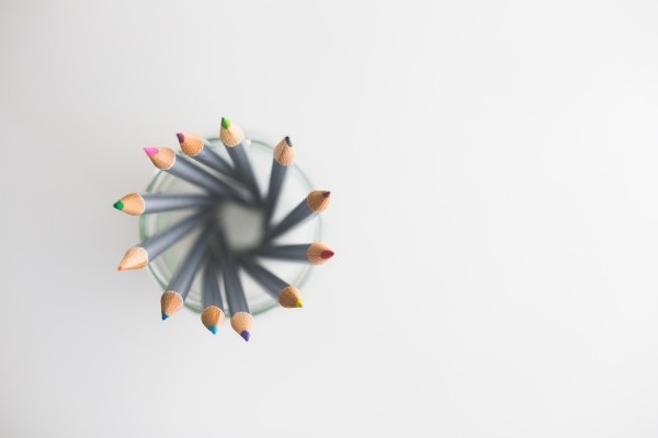 top-view-of-colored-pencils