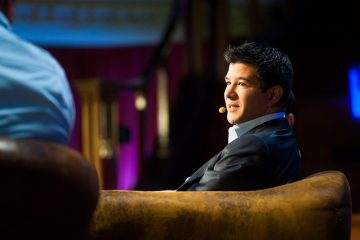 Uber's CEO Travis Kalanick speaks at the 2012 LeWeb conference in London.