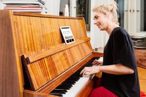 Skoove offers piano lessons via smart devices. Photo: Skoove