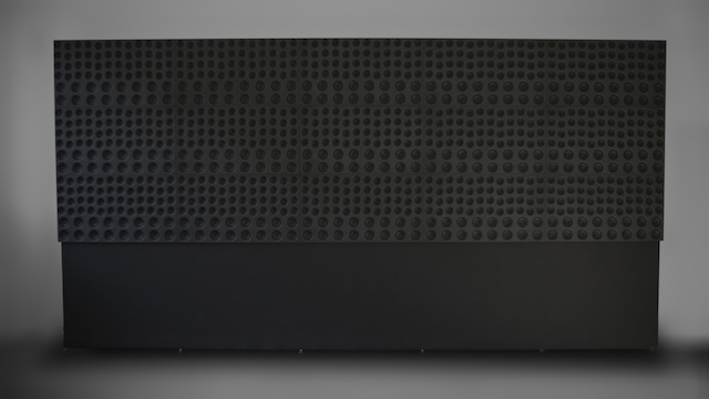 Instead of numerous speakers the Holoplot product is sold as one wall-sized piece of hardware.